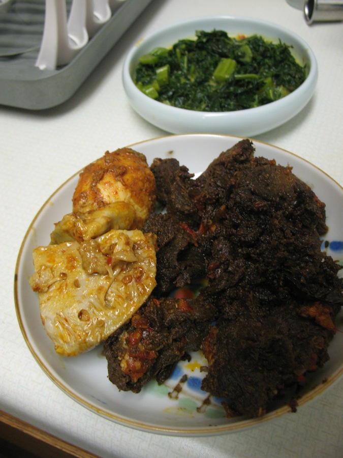 In The Foreground A Dry Stewed Beef Incredibly Rich And Salty Almost Like