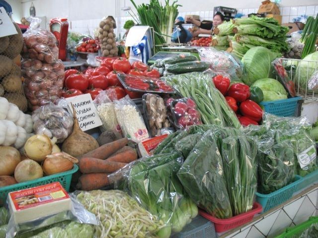 Some of the many vegetables available at Mercury Market