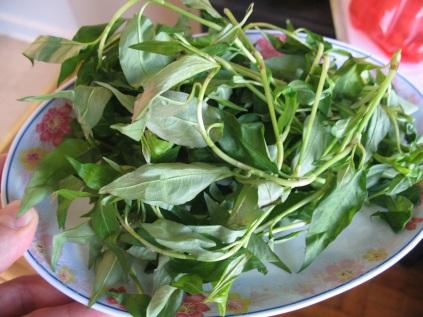 """A plate of """"Vietnamese mint"""""""