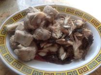 mackerel and parboiled pork ribs
