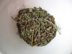 besobela mixed with kosseret: essential herbs for clarifying spiced butter in Ethiopia