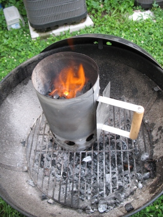 Get your coal lit. I find it easiest to do with a chimney starter
